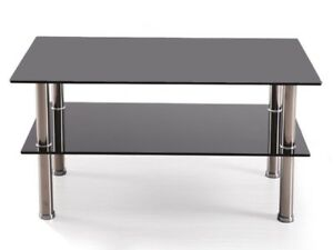 appealing black glass coffee table living room | Glass Coffee Table Sendi Black (90x50x43H) Living Room ...