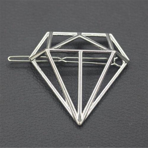 Fashion Wedding Boho Hollow Geometric Metal Hair Clips Hair Clamps Hairpins Gift