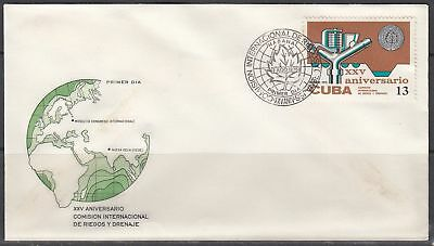 Professional Sale 1cuba Scott 1989 Fdc Novel Designs Delightful Colors And Exquisite Workmanship 25th Anniv Famous For Selected Materials Irrigation & Drainage Commission