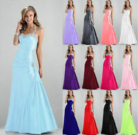 New STOCK Prom Party Ball Gown Formal Wedding Bridesmaid Evening Dress Size 6-18