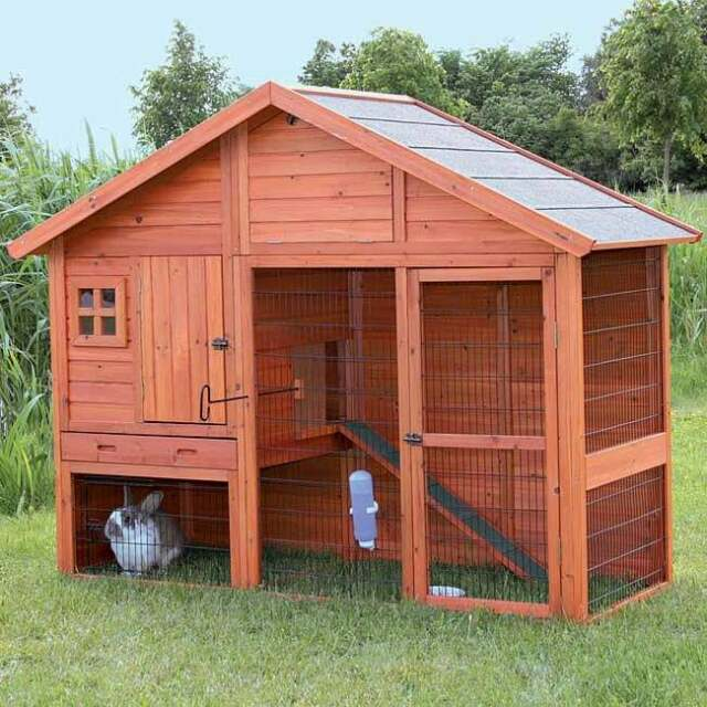 Trixie Pet Products 62336 Rabbit Hutch With Gabled Roof For Sale Online Ebay