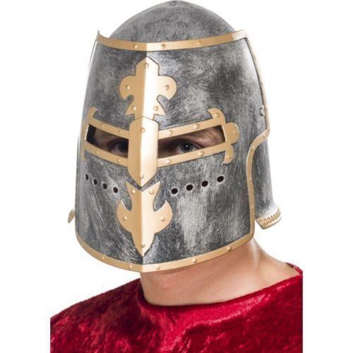 Medievale Crusader CASCO W mobili VISIERA Costume Re Cavaliere Cosplay