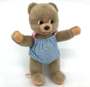 Schuco-Baby-Ursi-Teddy-Bear-Mohair-Plush-26cm-10in-Label-Bigo-Bello-1967-Vtg
