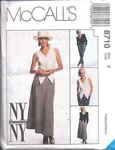 8710-UNCUT-Vintage-McCalls-SEWING-Pattern-Jacket-Vest-Skirt-Pants-NY-NY-OOP-NEW