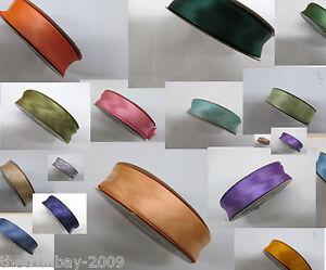 Satin Bias Binding 25mm Wide  25 Metre Rolls * 27 colours * Free Uk Post