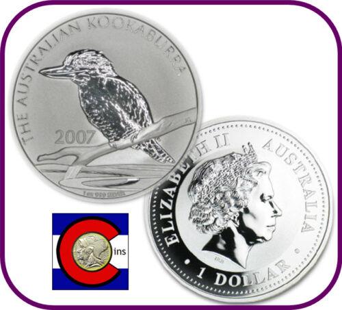 BU direct from Perth Mint roll 2007  Australia Kookaburra 1 oz Silver Coin