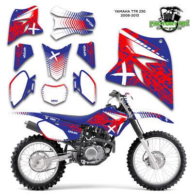 Yamaha Ttr 230 >> 2005 2019 Yamaha Ttr230 Graphics Decal Kit Sticker Ttr 230 2005 2010 2011 2019 Ebay