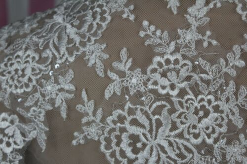 Details about  /Davids Bridal Medium women/'s lacey polyester sheer jacket *tag removed