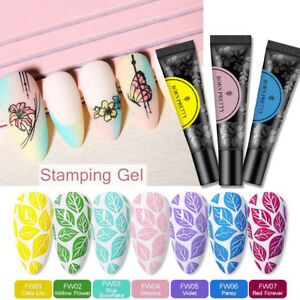 BORN PRETTY Nail Stamping Gel Pink Red Soak Off Nail Art Stamp Plate UV Gel 11g