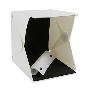 Light Room Photo Studio 9//23cm LED Lighting Tent Backdrop Cube Mini Box