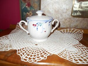 RARE-Brand-New-Old-Stock-Noritake-Epoch-Berry-Grove-Covered-Sugar-Bowl-WOW