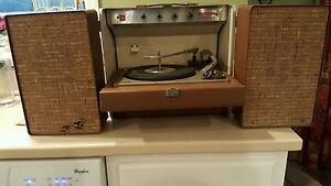 Vintage General Electric GE Turntable Record Player Stereo Model 400 Plus Bonus