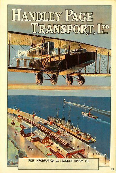 Vintage Handley Page Aviation Poster  A3 Print