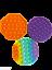 thumbnail 20 - Push Pops  its bubbles toy Sensory fidget stress relief anti-anxiety
