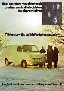 f87a7c3473 Ford Transit Mk1 1968 UK Market Foldout Sales Brochure SWB LWB ...
