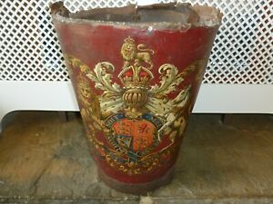 Antique Leather Fire Bucket Ebay
