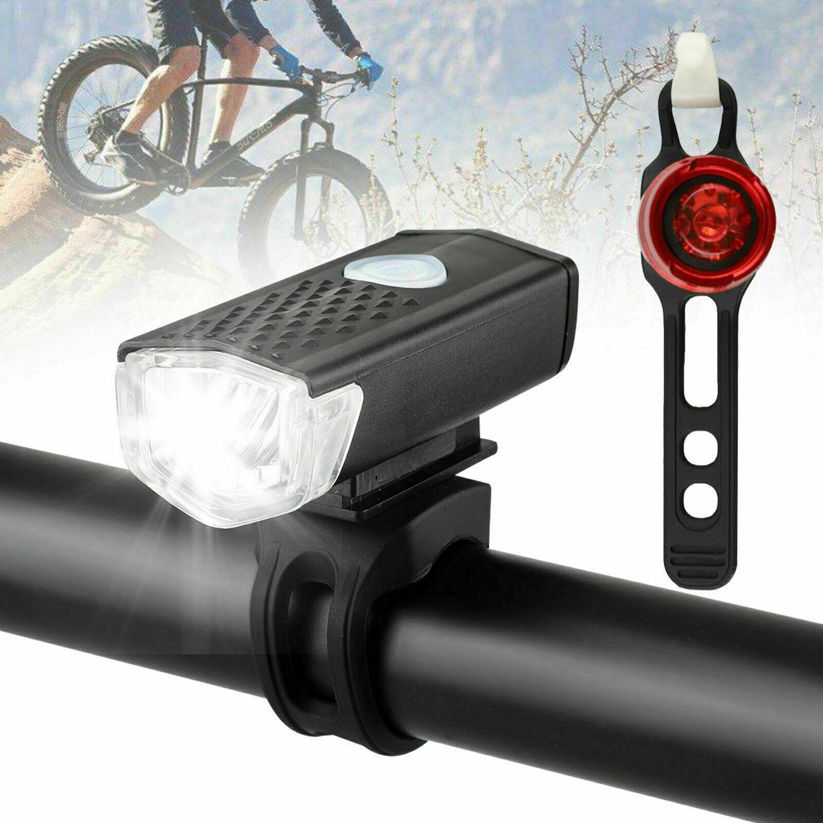 LED Bicycle Bright Bike Lamp Safe Riding Flashlight Lamp Set Of Mountaineers