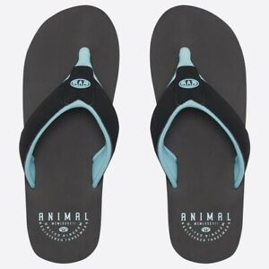 3d84b293d8a1 Animal Bazil Logo Men s Flip Flops 2019 FM9SQ005 002 Black NEW