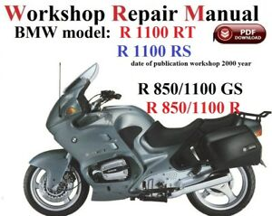 bmw r1100rt rs r850 1100gs r850 1100r repair manual pdf version ebay rh ebay co uk manuale uso e manutenzione bmw r 850 rt manuale d'officina bmw r 850 rt