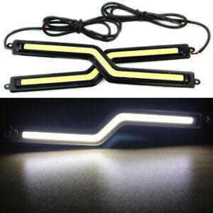 DRL-COB-Car-LED-18CM-X-2-Bright-Cold-White-Light-Bar-Fog-Lights-Z-Shape