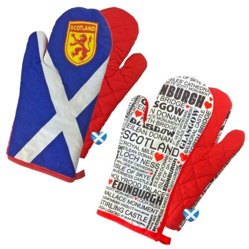 Scotland Flag Oven Glove Scottish Glasgow Edimbourg Kitchen Mitt Saltire Lion UK
