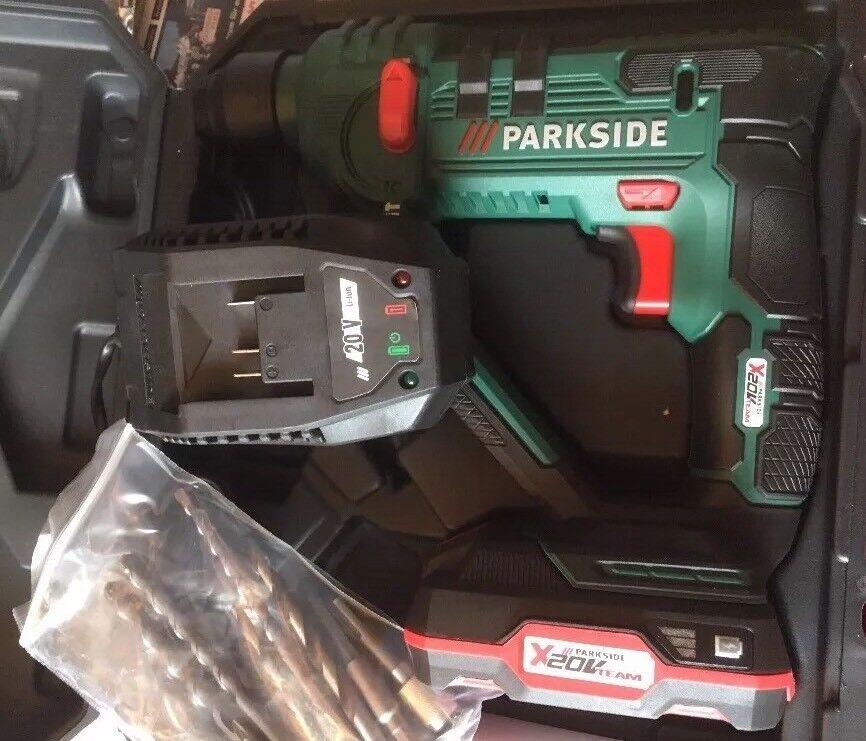 Parkside AKKU - BOHRHAMMER PABH 20-Li B2 mit Koffer & LED Li- Ionen Technologie