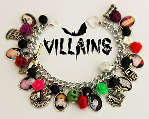grosses soldes emballage élégant et robuste dessin de mode Détails sur * Disney Villains Themed bijoux * bracelets, boucles  d'oreilles, colliers- afficher le titre d'origine