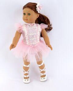 Doll-Clothes-18-034-Dolls-Ballerina-Dress-Pink-Slipper-Fits-American-Girl-Dolls