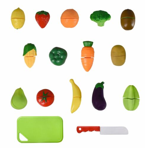 Super Durable Healthy Fruit and Vegetables Basket Pretend Play Playkidz