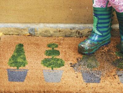 Cosciente My Mat Lusso Fibra Naturale Di Cocco Fuori Porta Stuoia Design Arte Topiaria-mostra Il Titolo Originale Essere Distribuiti In Tutto Il Mondo