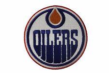"EDMONTON OILERS NHL Hockey Logo 3"" inch round iron-on PATCH CREST BADGE"