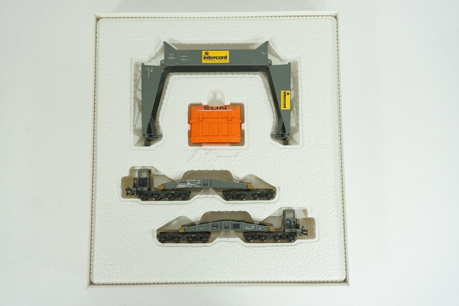 Liliput HO OBB austríaco FerroCocheril profundo Conjunto De Coche plano de Cochega con transformador 38310