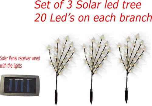Solar Leaf Tree Set de 3//6//9 Lumières DEL Jardin Extérieur Décoration Lumière Mariage Fête