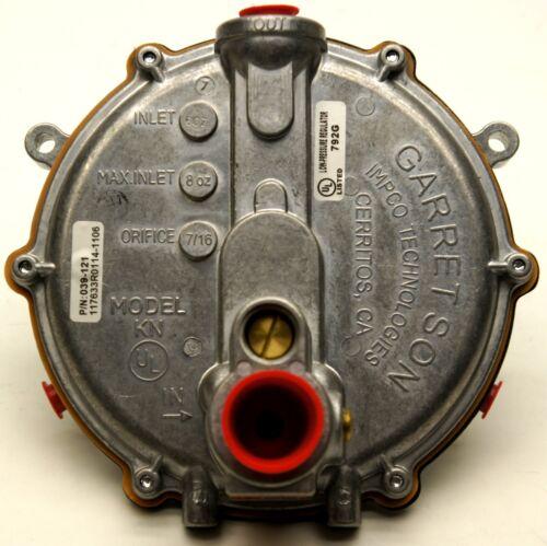 GARRETSON IMPCO KN LOW PRESSURE REGULATOR # 039-121 039 121 AUTO ELECTRIC PRIMER