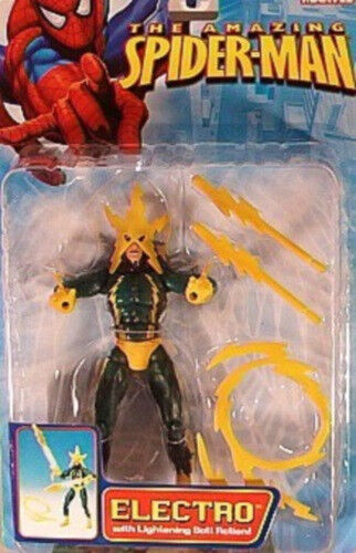 The Amazing Spider-Man Series 4  Lightning Bolt Action Electro By Toy Biz (MOC)
