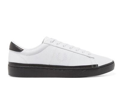 Fred Perry Schuhe Sneaker Spencer Leather B4166 Weiß Schwarz Herren div. Größen   eBay