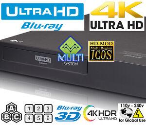 Details zu NEW LG UBK 90 Region Free Blu Ray Player 4k UHD HDR10 All Zone  Multi Code