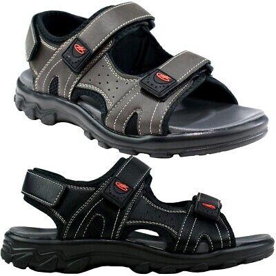 EntrüCkung Faux Leather Triple Strap Walking Sandals Beach Shoes Mens Size Schnelle Farbe
