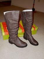 Baretraps Grey Sheridan Tall Shaft W/ Ruching Knee High Boots Size 5.5 M