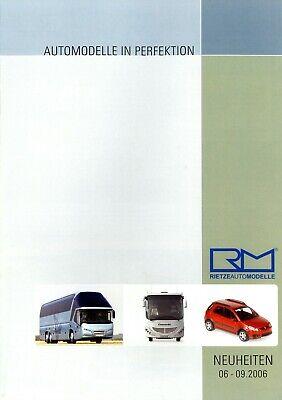 Rietze Automodelle Neuheiten 2006 6-9/06 Prospekt Modellautos Brochure Model Car Durch Wissenschaftlichen Prozess