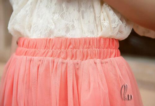 AU SELLER Women/'s Girl/'s Underskirt Party Dance 3 Layered Tulle Skirt dr004-7