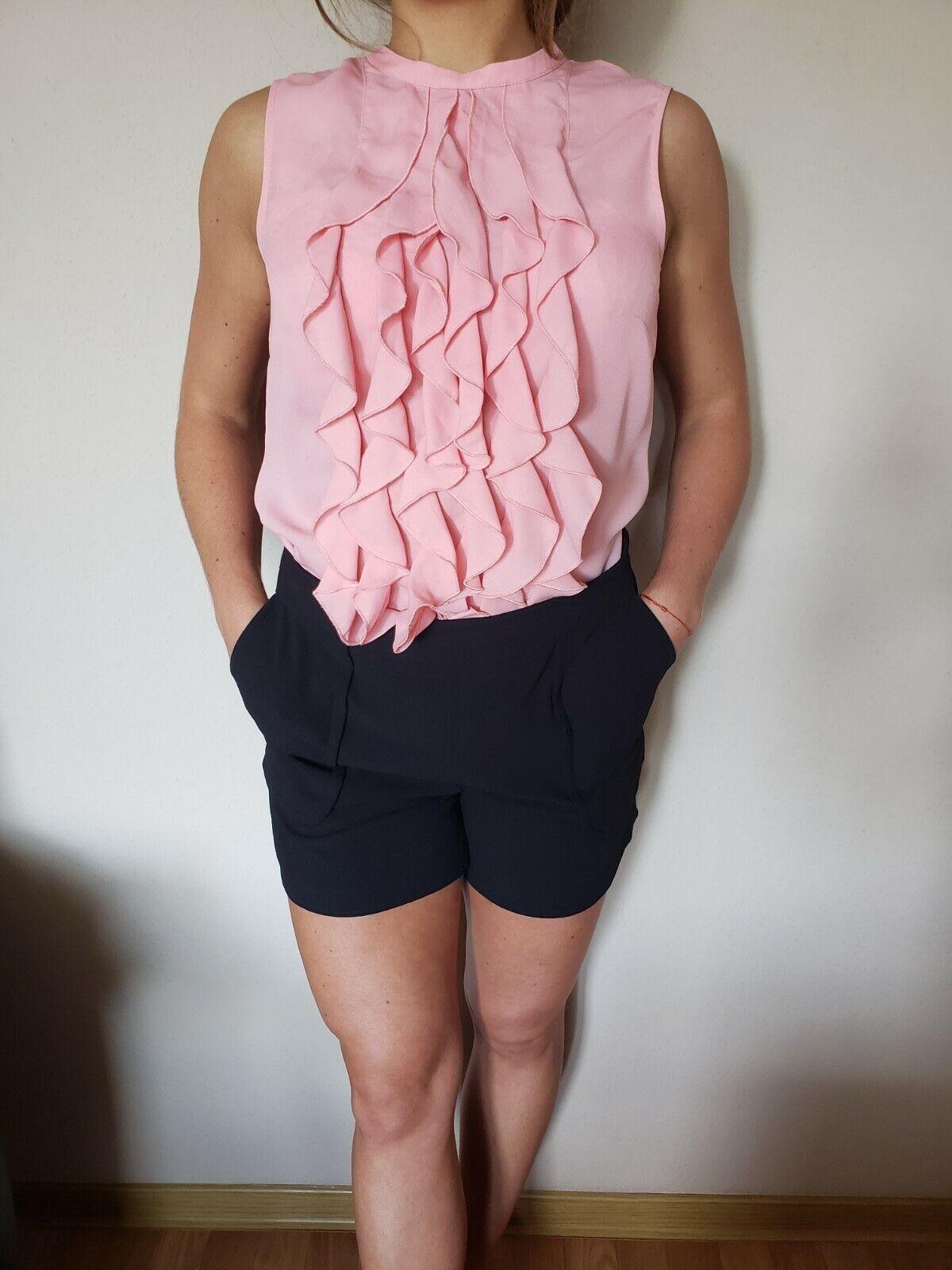 Damen Outfit: Kurze Hose mit Seitentaschen, Promod,Gr.S + Bluse, H&M Gr. 36