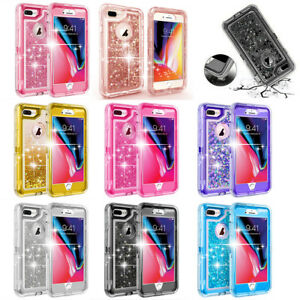 promo code 0b5af deb5d Details about For iPhone 7/8 Plus Liquid Glitter Quicksand Bling Case Belt  Clip fits Otterbox