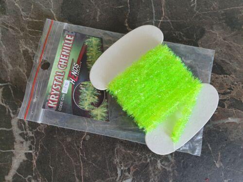 Krystal Chenille Fluo Chartreuse 6mm Fliegenbinden,Bindematerial Körperbau