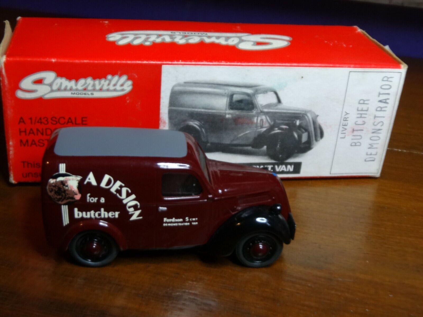 Somerville Models 1 43 Scale 107 - Fordson 5CWT Van - Design For A Butcher