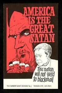 Political-President-postcard-Jimmy-Carter-Stan-Devil-comic-Artist-Reading-1979