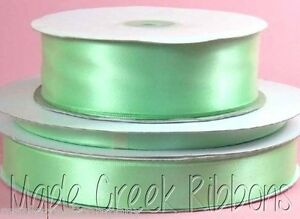 """2yd of White 7//8/"""" Double Face Satin Ribbon 7//8/"""" x 2 yards neatly wound"""