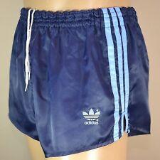 ADIDAS Glanz Nylon Shorts!!!  Vintage Short Sporthose Dunkelblau-Gr.L-6     968