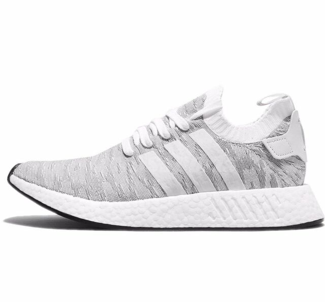 finest selection best website first rate ADIDAS NMD R2 NMD_R2 PRIMEKNIT - WHITE/GREY/BLACK/ORANGE - BY9410 - UK 7,  10, 11
