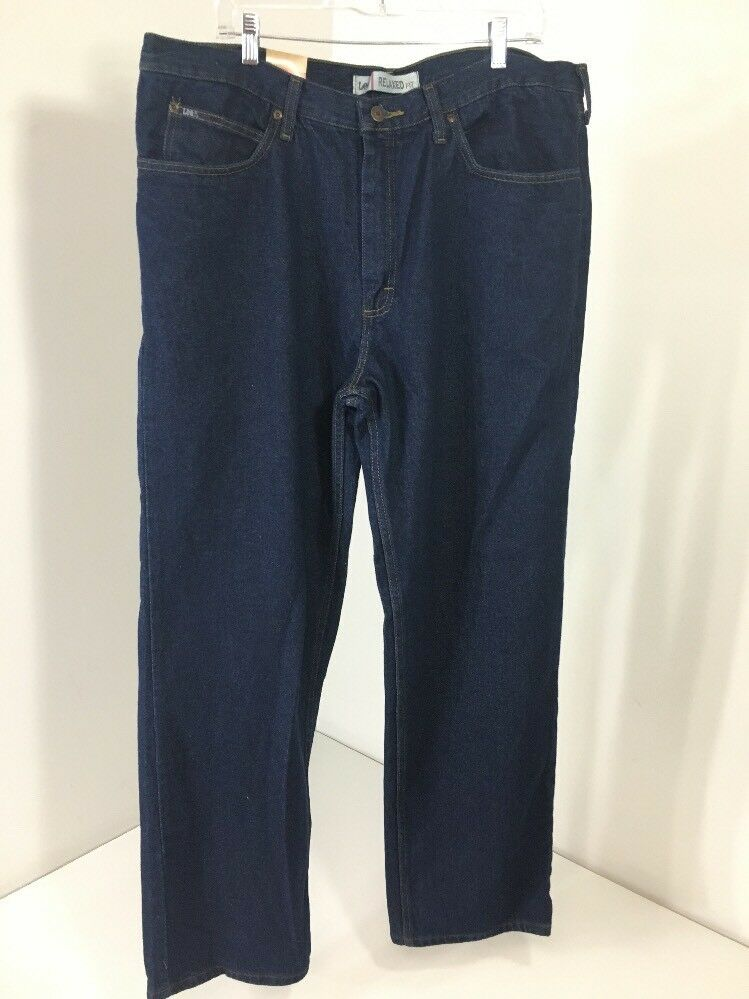 LEE MEN'S RELAXED FIT JEANS PEPPER PREWASH 40X32 NWT